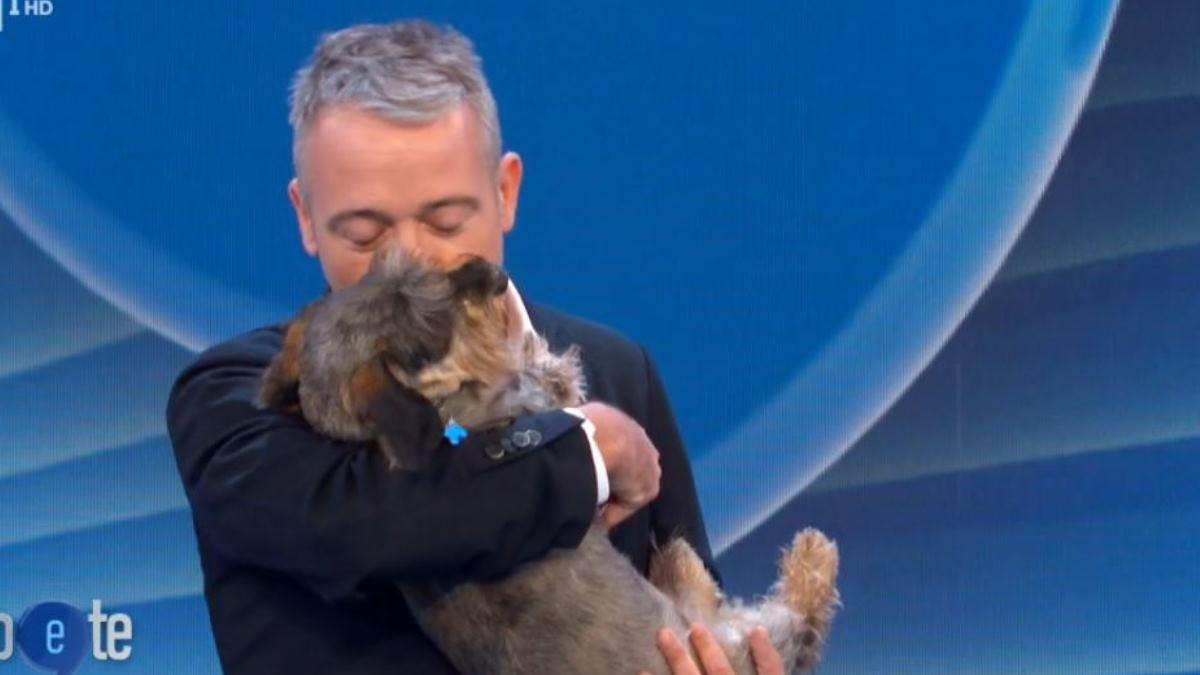 Foto Pierluigi Diaco Io e Te cane