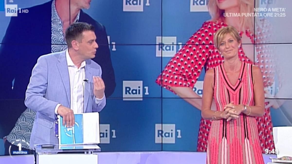 Foto Poletti Bisti battute UnoMattina