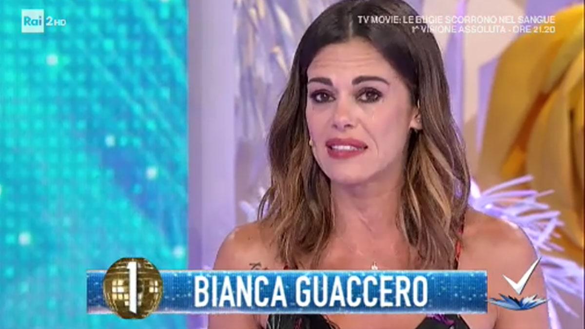Bianca Guaccero scoppia in lacrime. Perché piange in tv