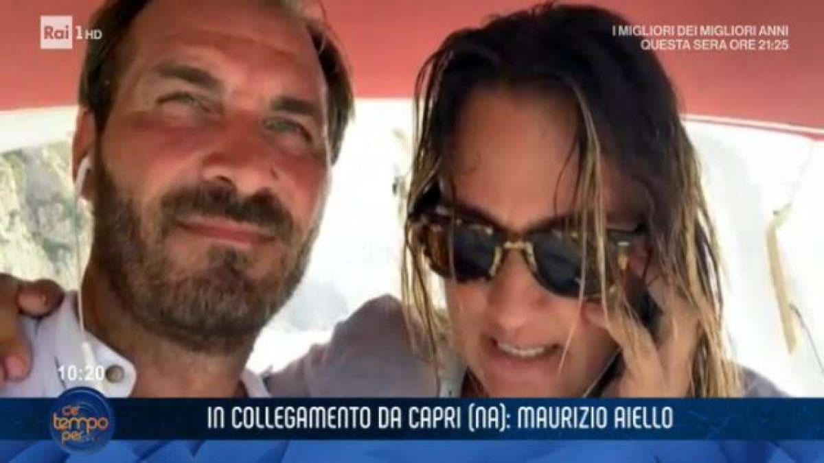 foto Maurizio Aiello e moglie C'è tempo per..