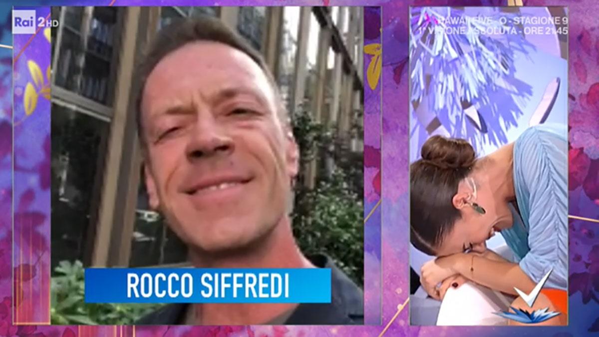 foto Rocco Siffredi Bianca Guaccero a Detto Fatto
