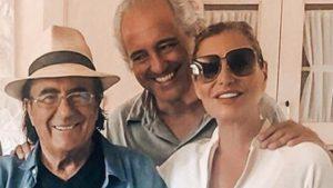foto di Simona Ventura con Giovanni Terzi e Al Bano