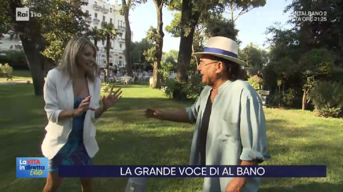 Al Bano, gesto inaspettato a La vita in diretta Estate: l'inviata arretra