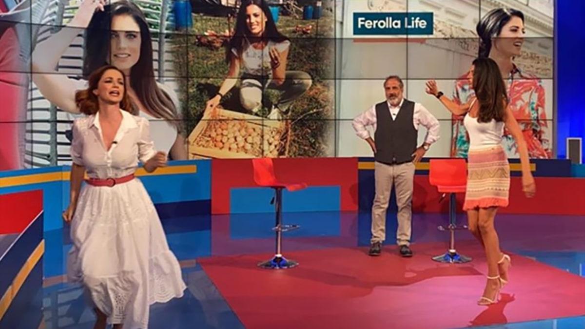 foto Andrea Delogu Marcello Masi e Daniela Ferolla a La vita in diretta