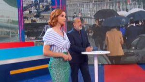 foto di Marcello Masi e Andrea Delogu a La vita in diretta Estate del 3 agosto 2020