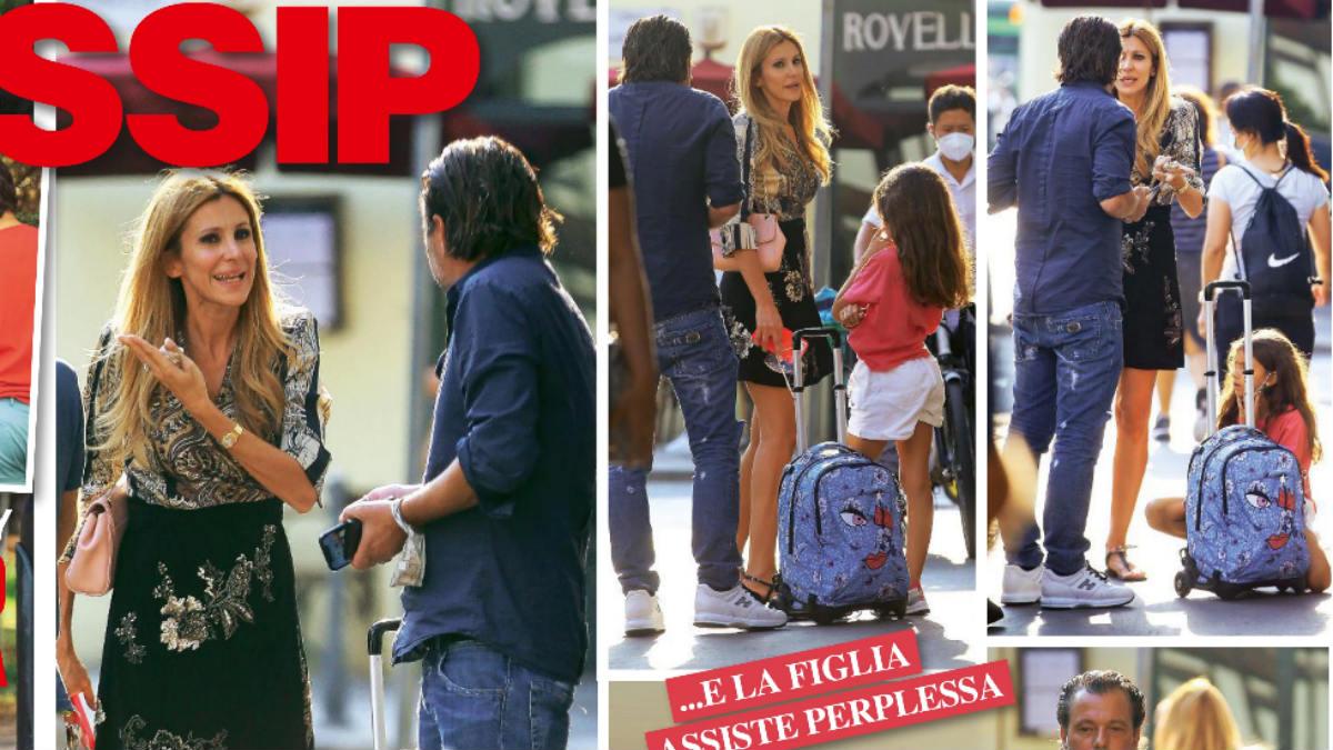 foto Adriana Volpe litiga con il marito Roberto Parli
