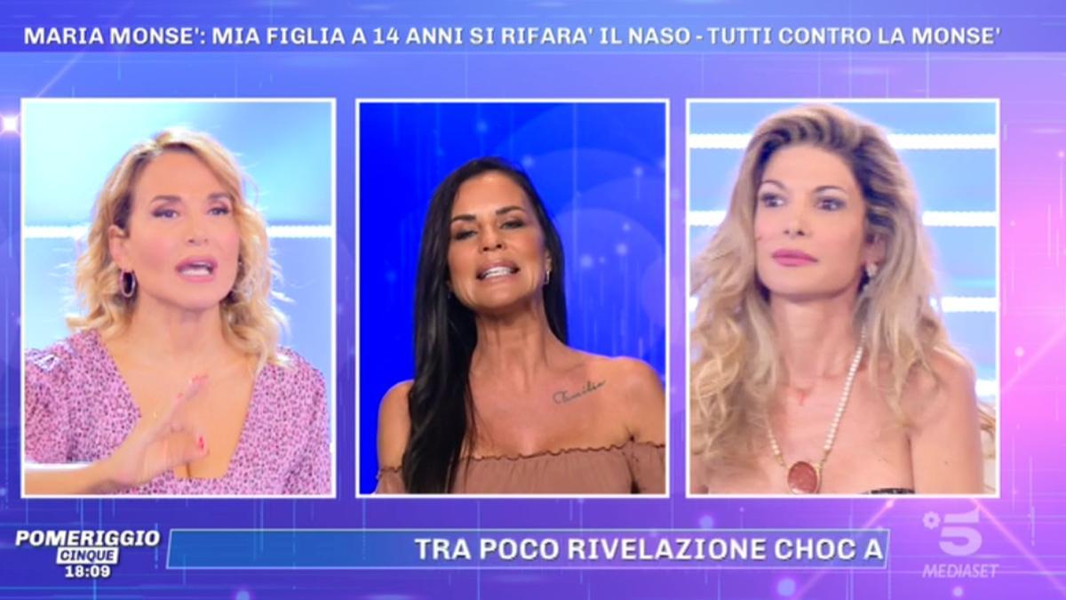 Foto Antonella Mosetti Maria Monsè Pomeriggio 5