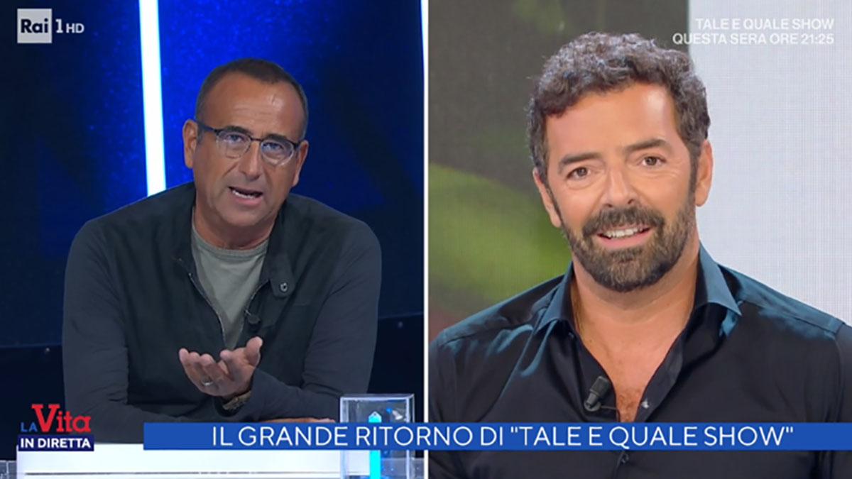 foto Carlo Conti e Alberto Matano