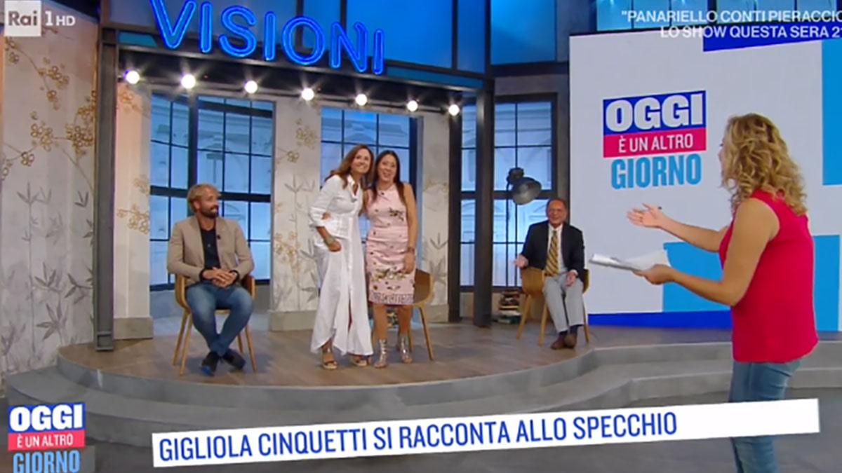 foto Gigliola Cinquetti e Sabina Ciuffini a Oggi è un altro giorno