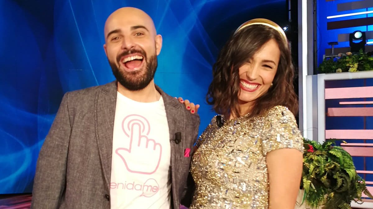 foto Lorenzo Farina e Caterina Balivo a Vieni da me