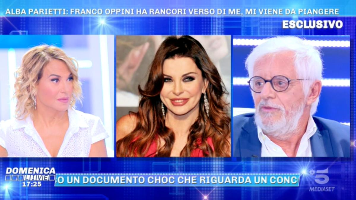 Foto Franco Oppini Alba Parietti Domenica Live