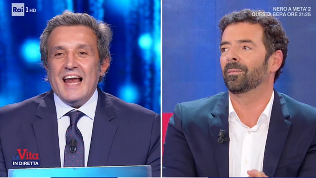 foto Flavio Insinna e Alberto Matano a La vita in diretta
