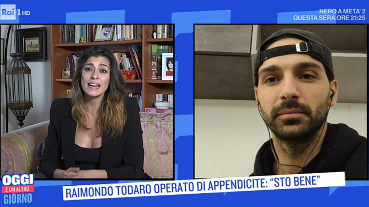 foto Elisa Isoardi e Raimondo Todaro da Serena Bortone