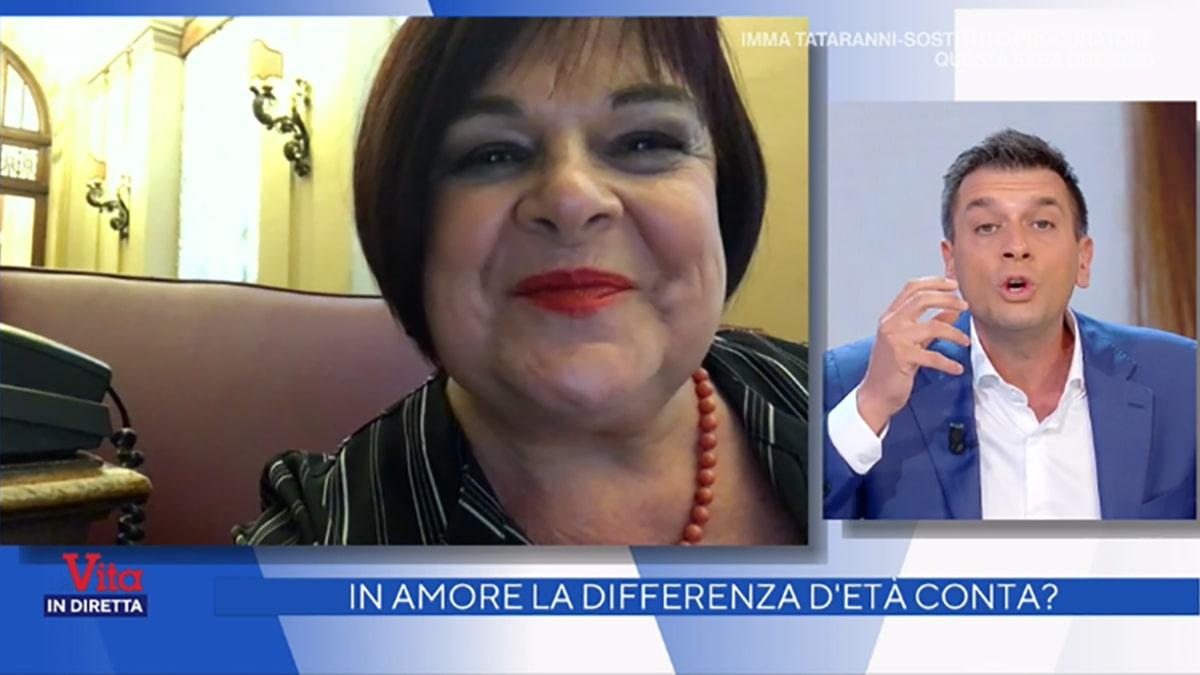 foto Stefania Pezzopane e Roberto Poletti a La vita in diretta