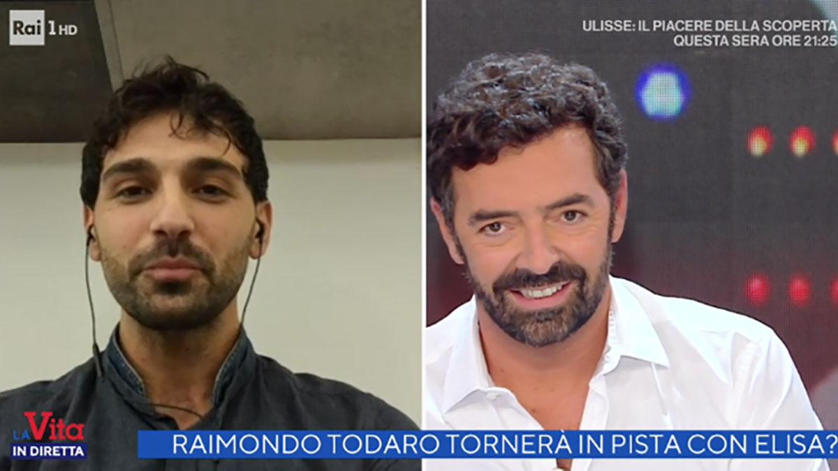 foto Raimondo Todaro e Alberto Matano a La vita in diretta