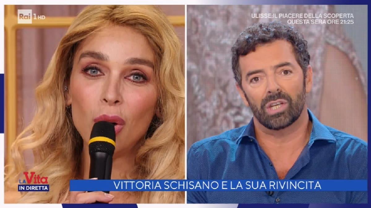 foto di Vittoria Schisano e Alberto Matano a La vita in diretta