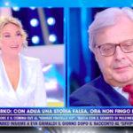 """Non è la D'Urso, Vittorio Sgarbi su Garko: """"Eva Grimaldi mi tradì con lui"""""""
