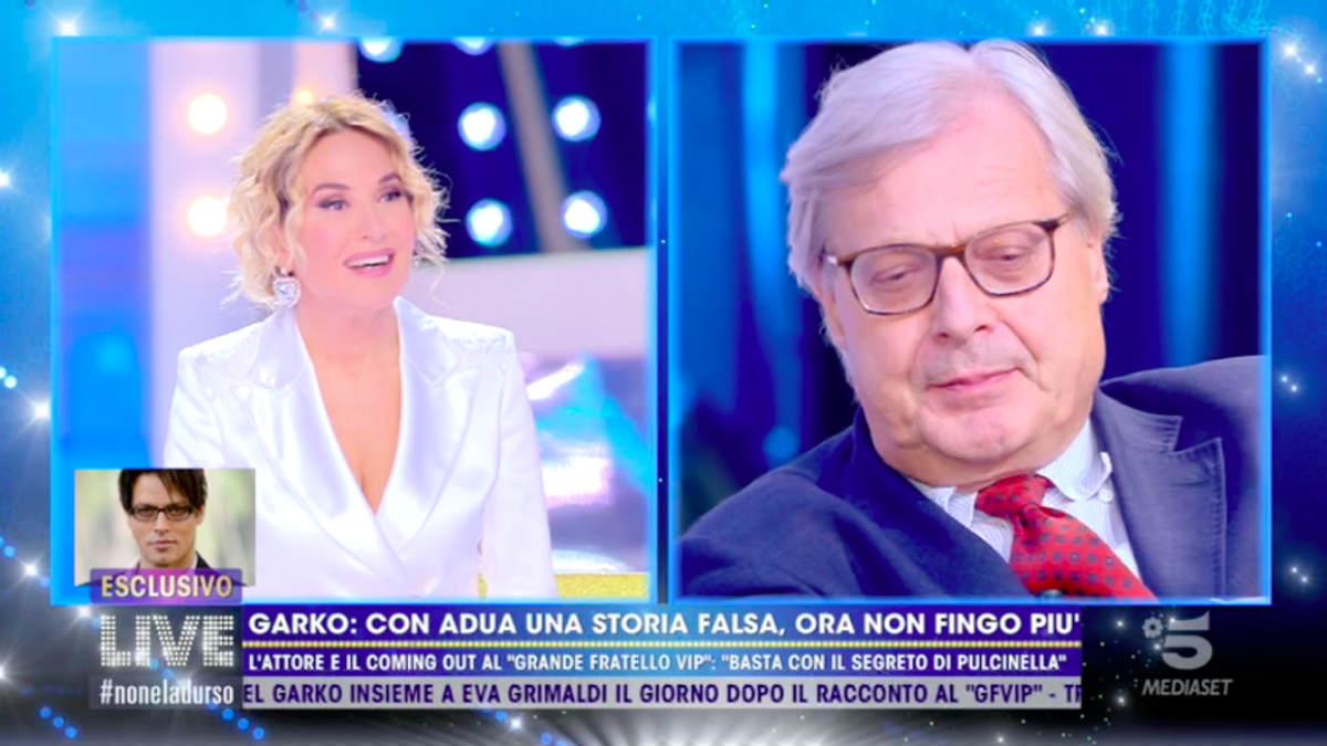foto non è la d'urso Vittorio Sgarbi gabriel garko Eva Grimaldi