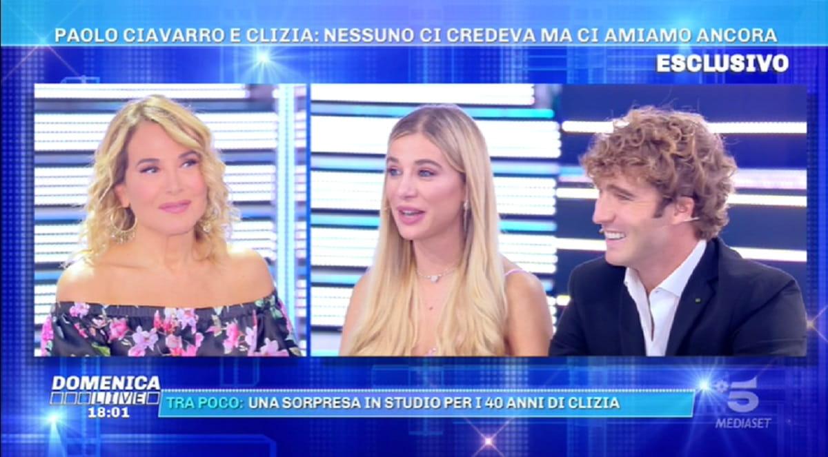 Paolo Ciavarro Clizia Incorvaia Barbara D Urso Domenica Live