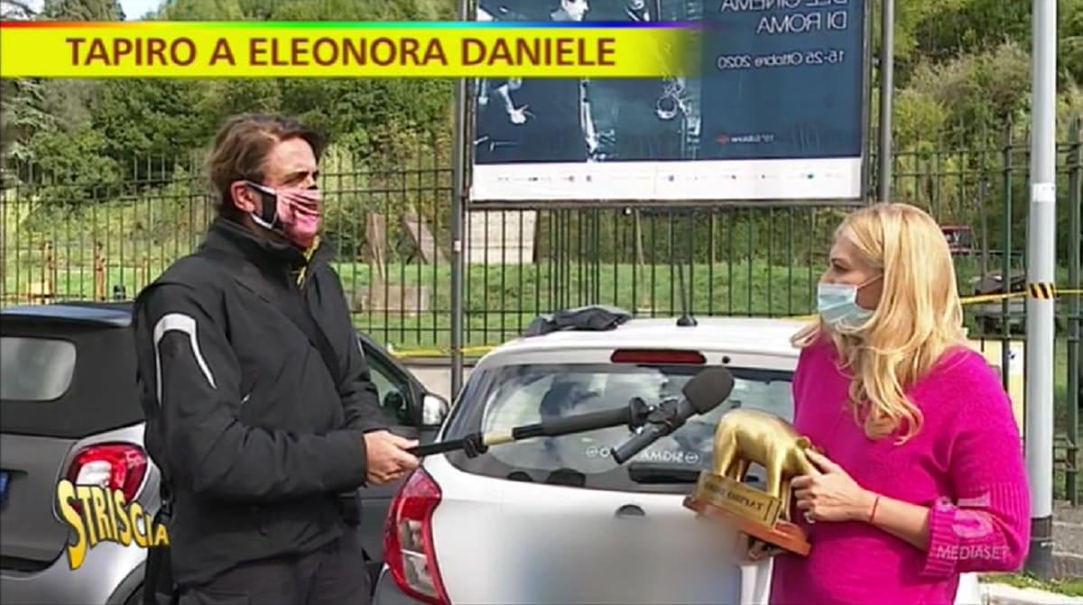 Foto Eleonora Daniele Tapiro Striscia La Notizia