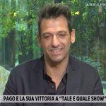 """Pago a Storie Italiane: """"Non amo la parola single, sono sempre innamorato"""""""