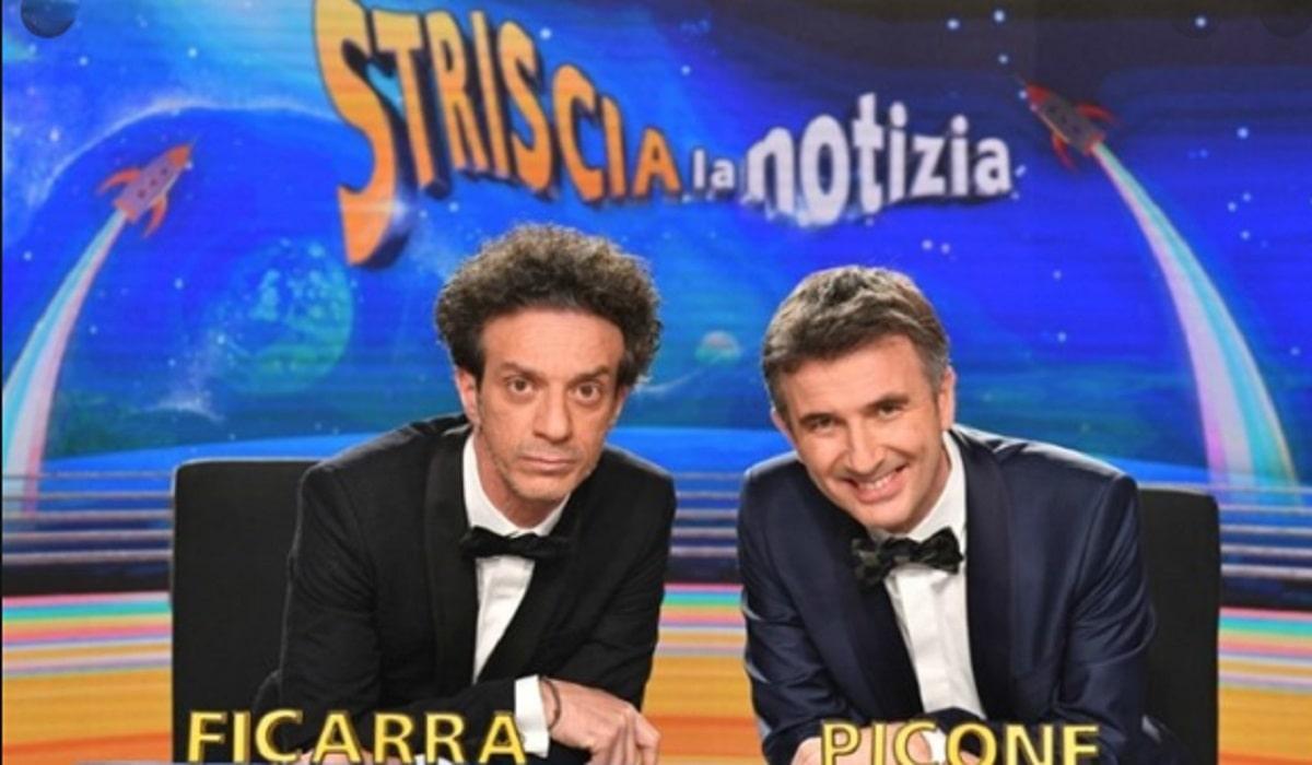 Foto Maurizio Costanzo su Striscia la notizia