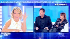 Foto fidanzato Viola Valentino Domenica Live