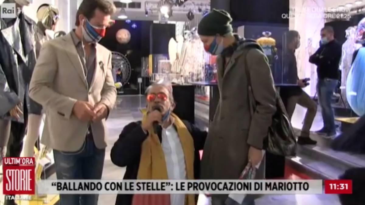 Foto Guillermo Mariotto polemica Storie Italiane
