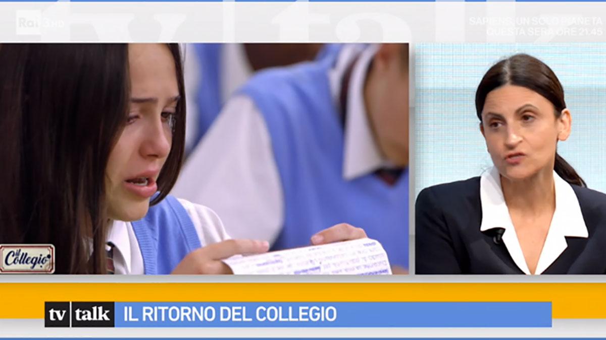 foto Lucia Gravante de Il Collegio a Tv Talk
