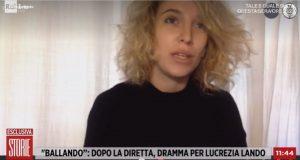 foto di Lucrezia Lando a Storie Italiane