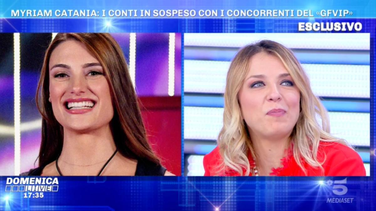 Foto Myriam Catania Franceska Pepe Domenica Live