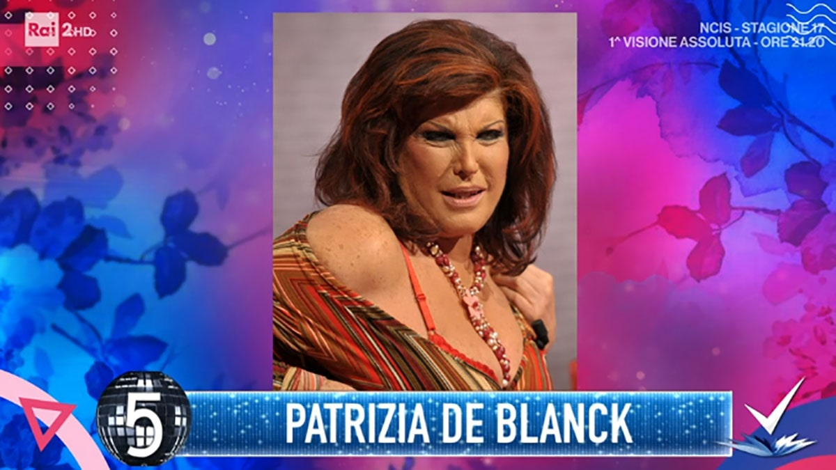 foto Patrizia De Blanck a Detto Fatto