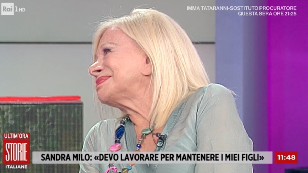 Foto Sandra Milo piange Storie Italiane