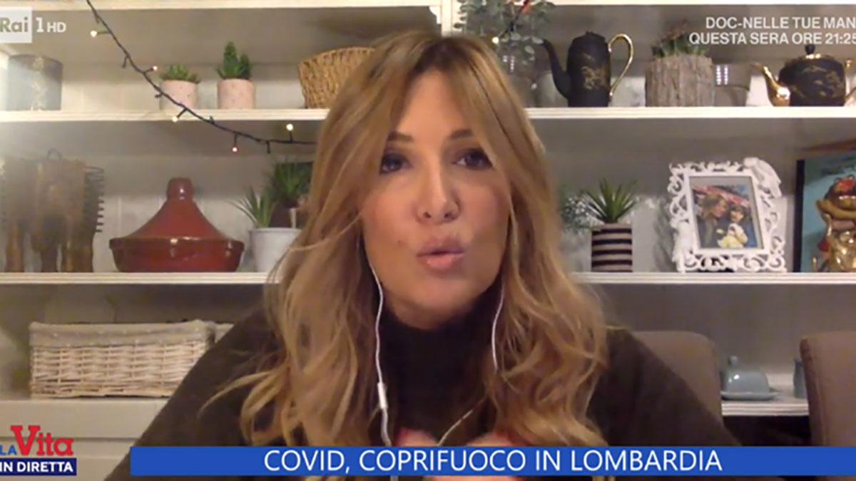 foto Selvaggia Lucarelli a La vita in diretta