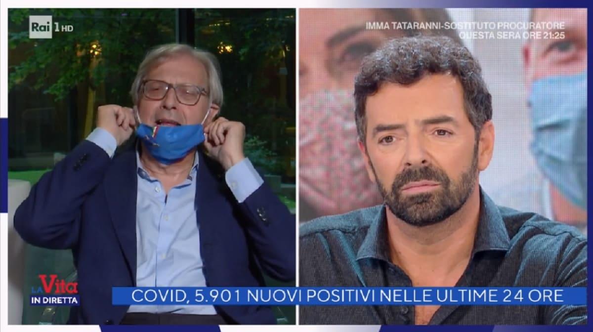 foto di Vittorio Sgarbi e Alberto Matano a La vita in diretta