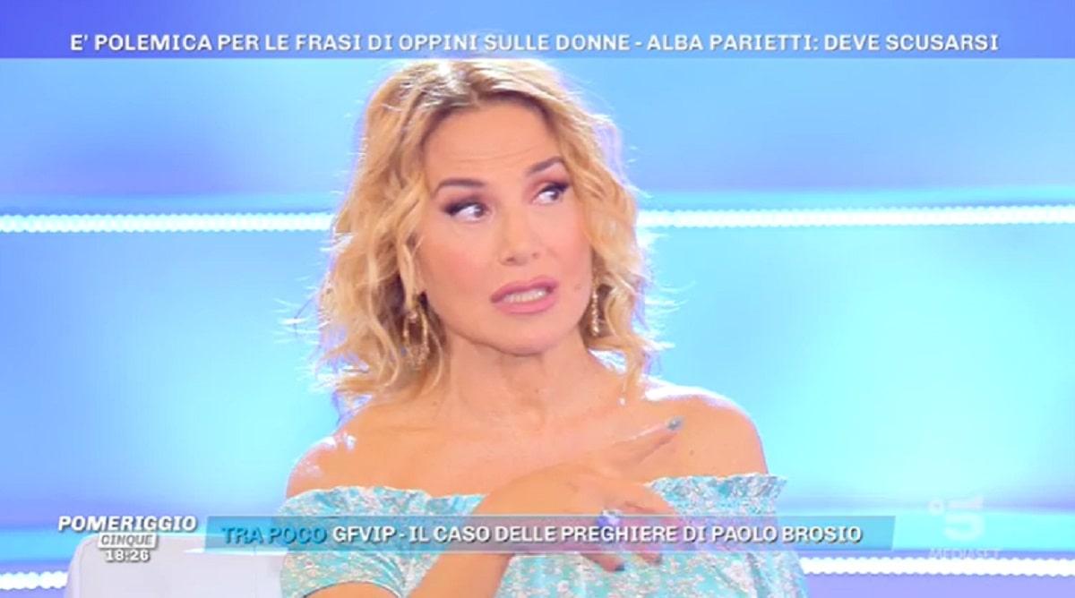 Barbara d'Urso Su Francesco Oppini Pomeriggio Cinque