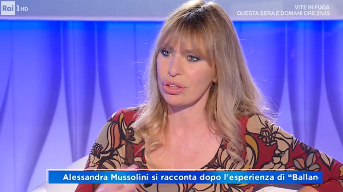 foto Alessandra Mussolini a Domenica In