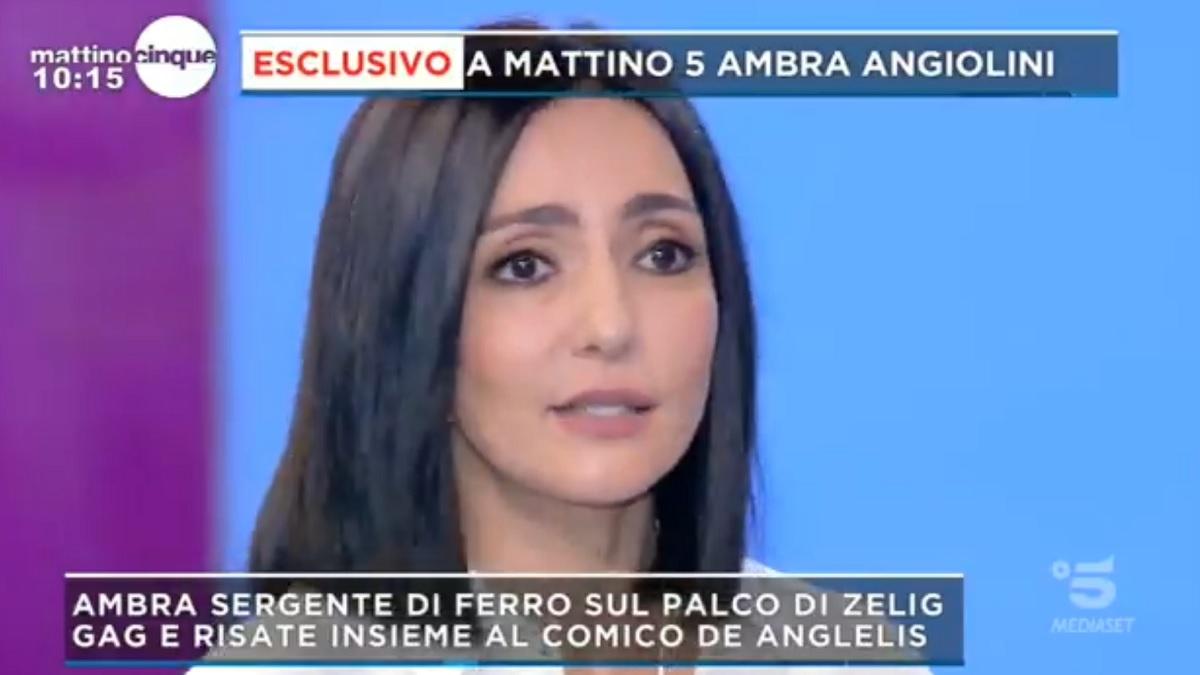 foto Ambra Angiolini Mattino 5