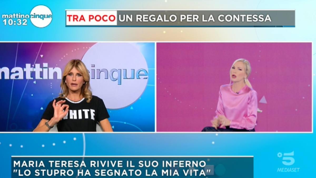 Foto Arianna David gaffe Federica Panicucci