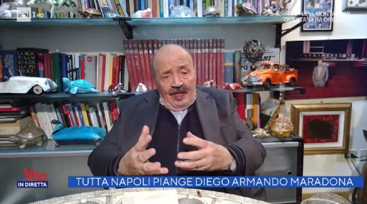 foto di Maurizio Costanzo a La vita in diretta del 26 novembre