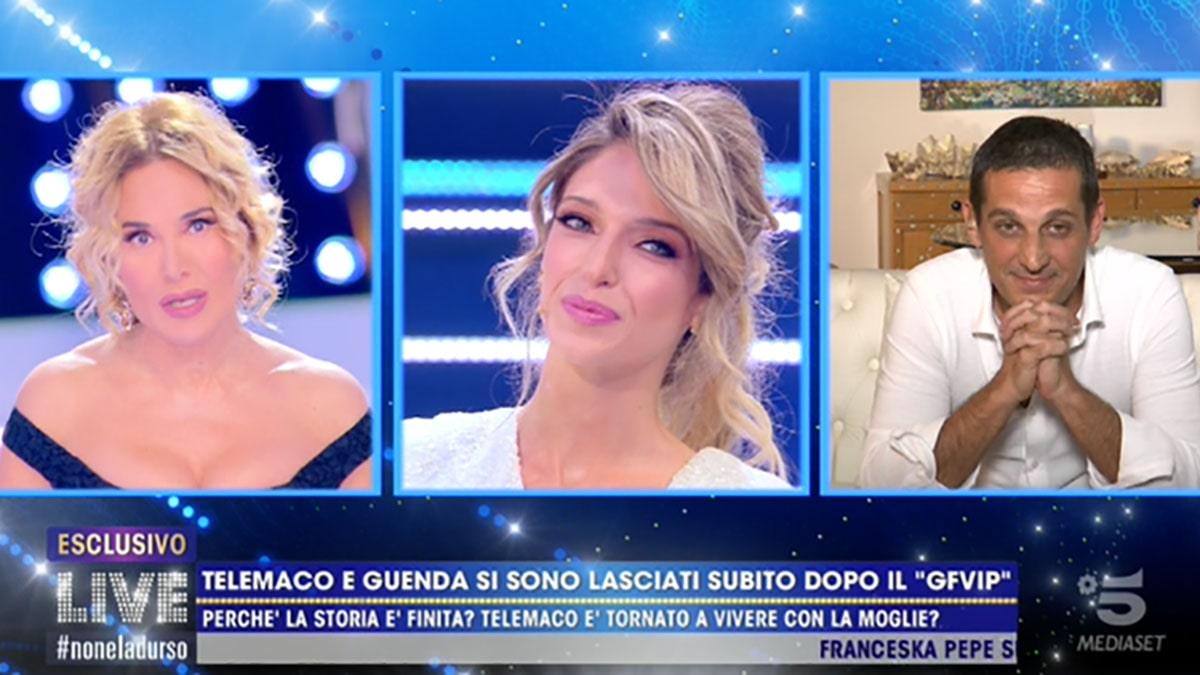 foto Barbara D'Urso Guenda Goria e Telemaco a Live-Non è la D'Urso
