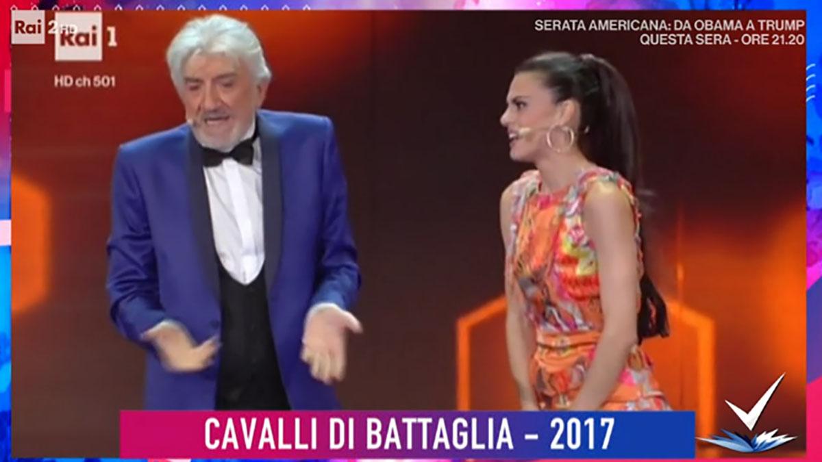 foto Gigi Proietti e Bianca Guaccero a Detto Fatto