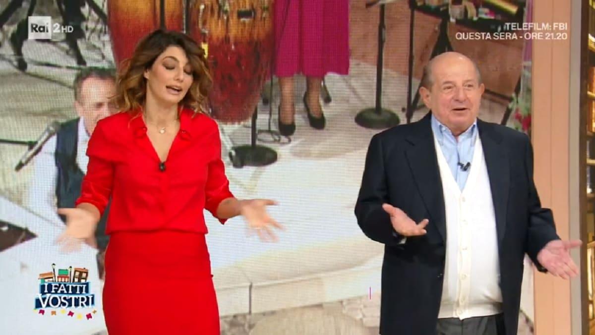 foto di Giancarlo Magalli e Samanta Togni a I Fatti Vostri