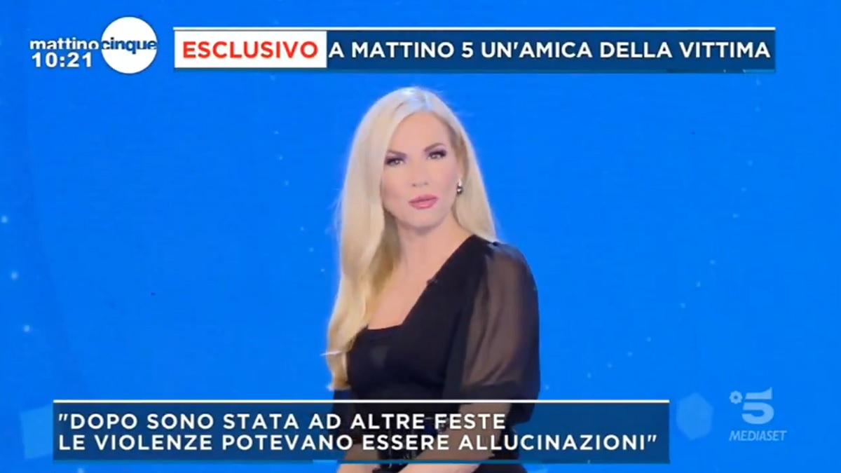 foto Mattino 5 Federica Panicucci scioccata