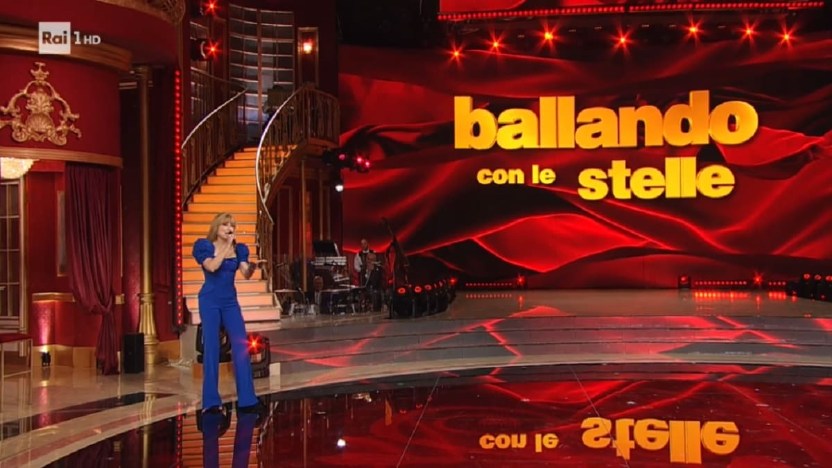 foto di Milly Carlucci a Ballando del 7 novembre