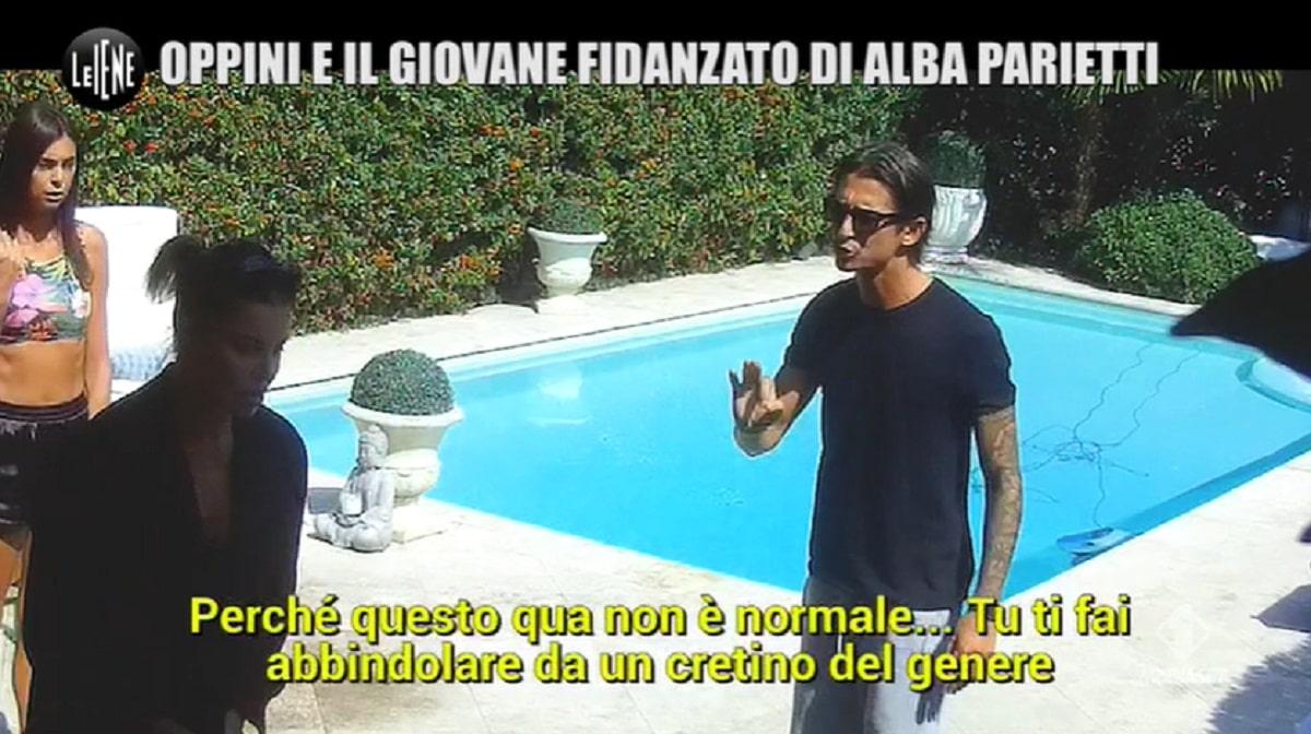 Foto Alba Parietti e Francesco Oppini Scherzo Le Iene