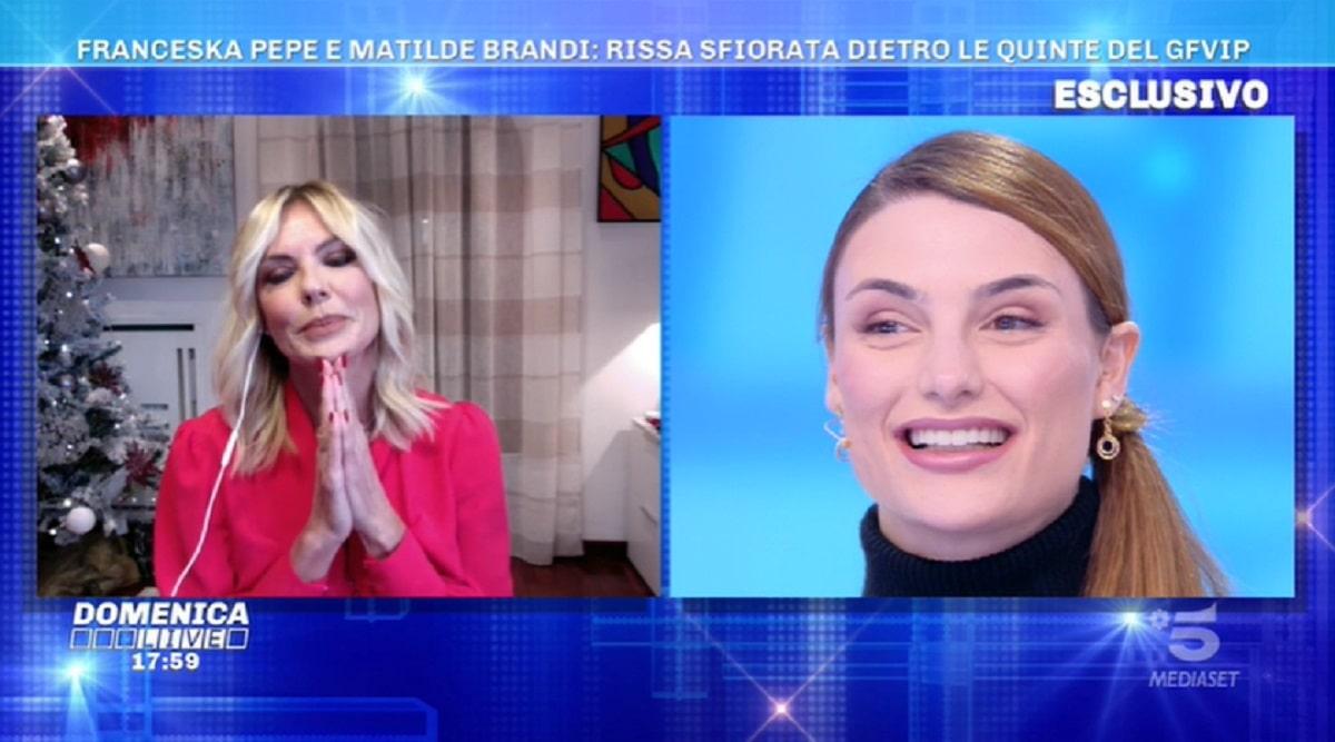 Foto Franceska Pepe e Matilde Brandi Domenica Live