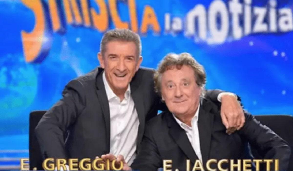 Foto Ezio Greggio e Enzo Iacchetti Striscia La Notizia