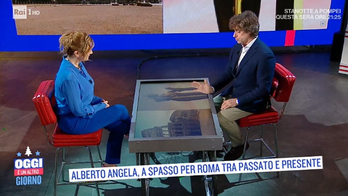 foto Alberto Angela e Serena Bortone