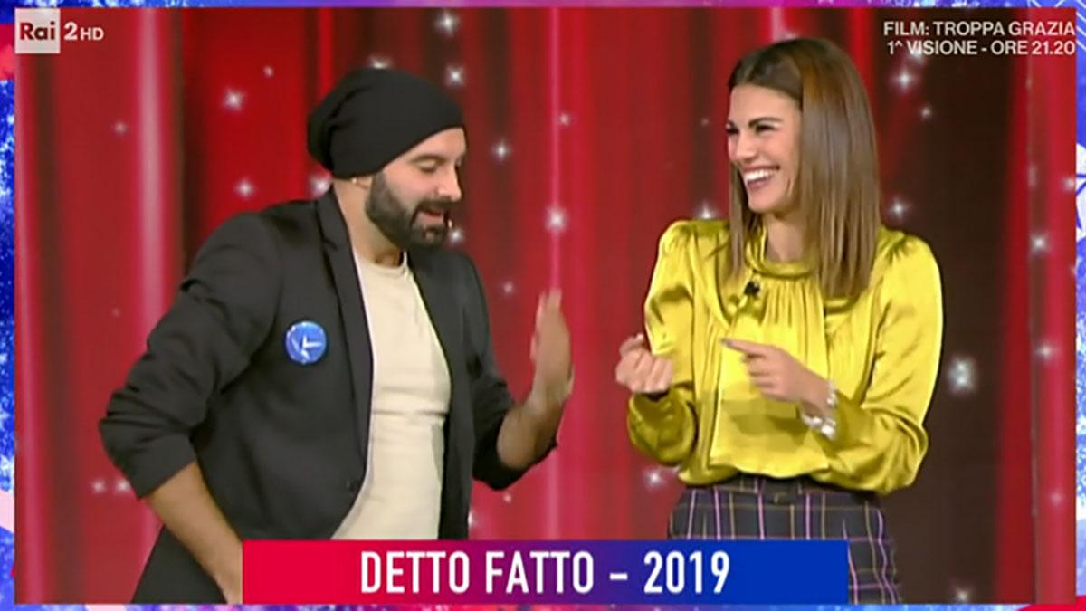 foto Andrea Paris e Bianca Guaccero a Detto Fatto